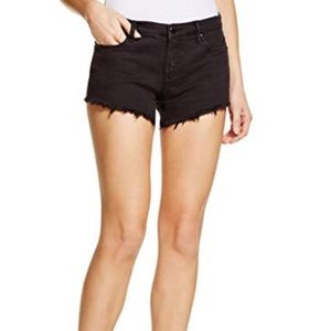 Blank NYC Cut Off Denim Jean Raw Hem Black Shorts